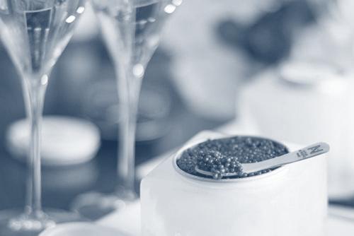 Dégustation de caviar français