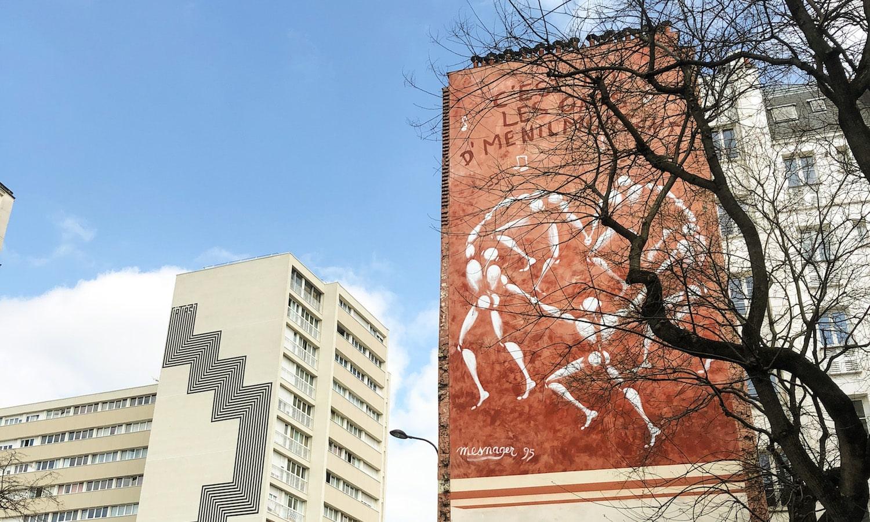 """""""Les Gars de Ménilmontant"""", mural by Jerôme Mesnager"""