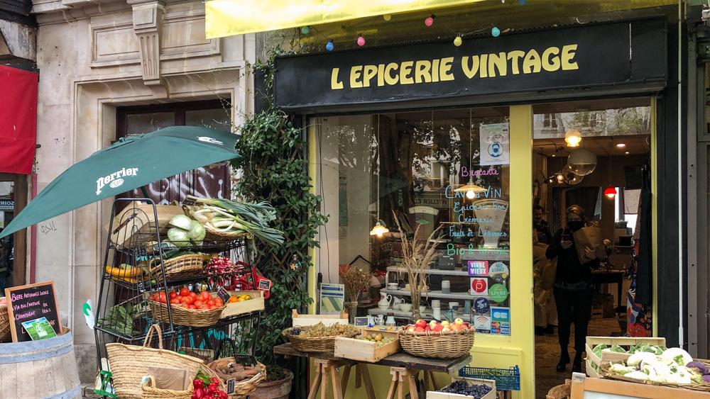 Façade Épicerie Vintage Ménilmontant