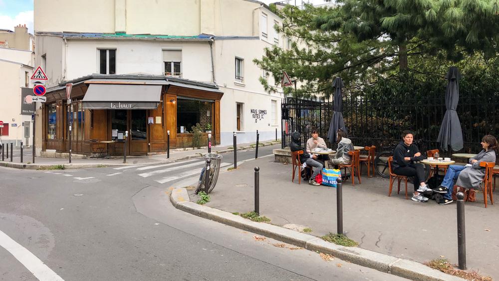 Restaurant Là-Haut, on top of Ménilmontant