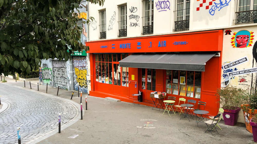 The one-and-only Monte-en-l'Air bookshop, a reference in Ménilmontant !