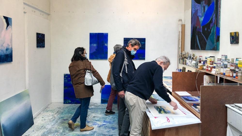 Ateliers d'Artistes de Belleville Marc Tanguy atelier