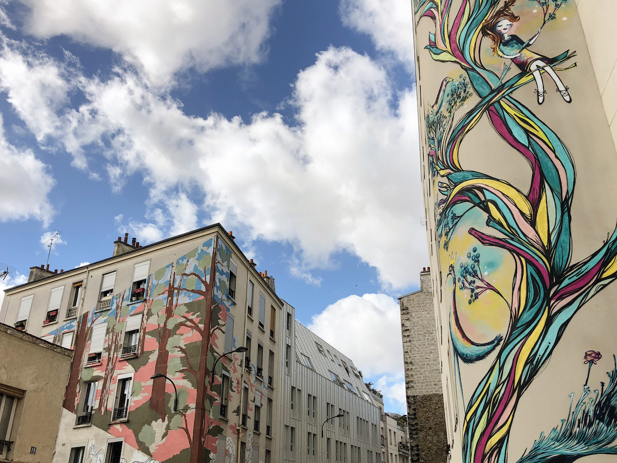 """Murals created during the """"Mois du Ratrait"""" 2017"""