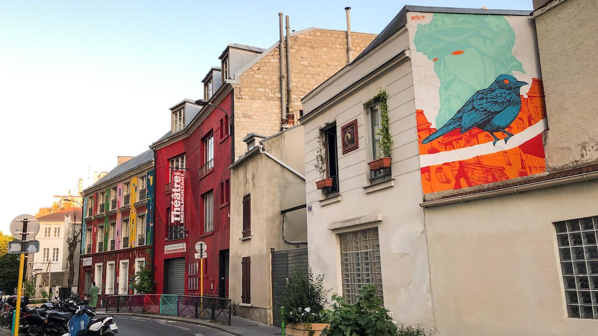 Rue du Retrait and the Théâtre de Ménilmontant