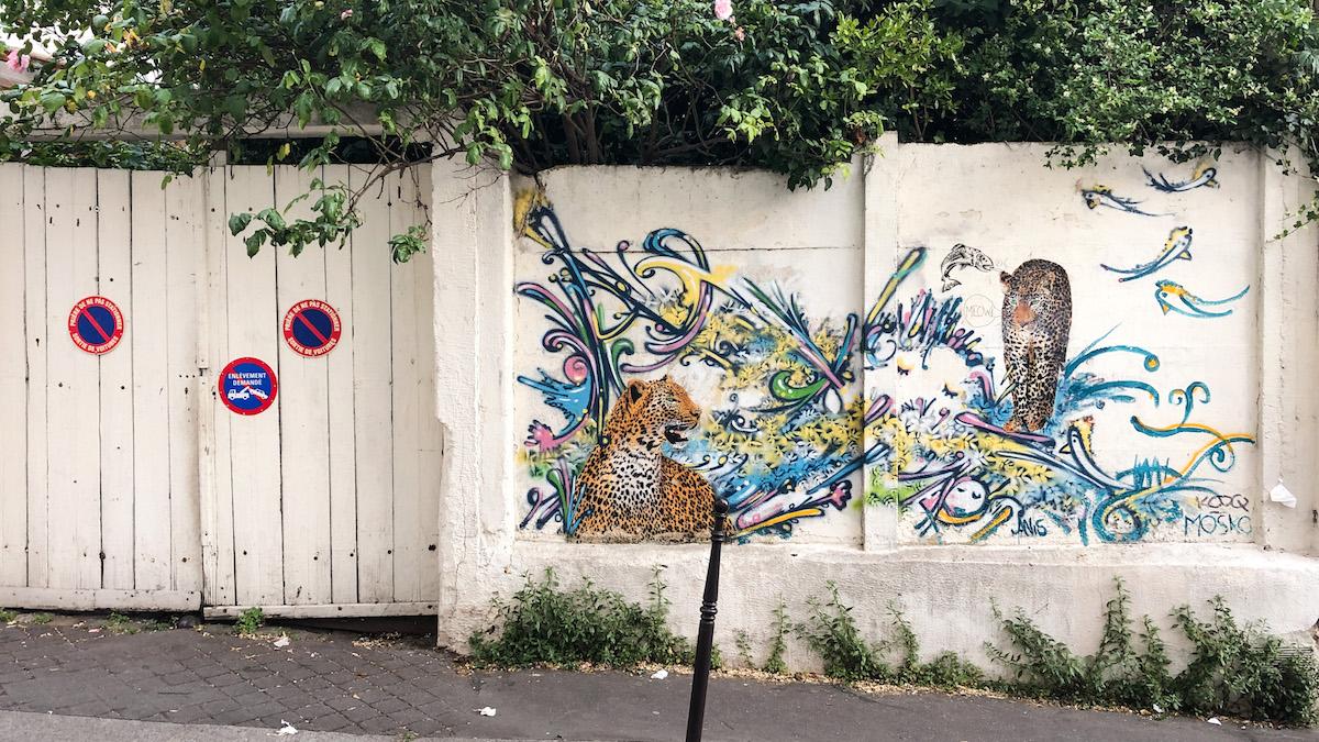 Graffiti by Mosko, rue Laurence Savart